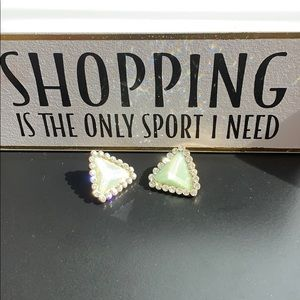Triangle aqua earrings